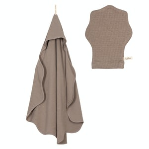1014-10512_TAUPE Babyproducten Badcapes