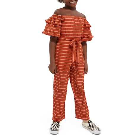 off-shoulder all-in-one in tencel mix Kleding Jumpsuits/onesies