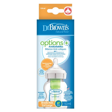 brede hals fles150ml Options+ Babyproducten Shirts lange mouw