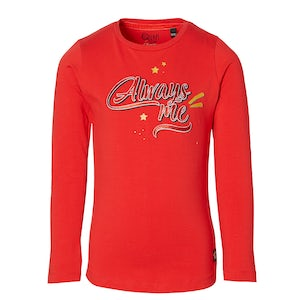 DINIEW204_RED Kleding Shirts lange mouw